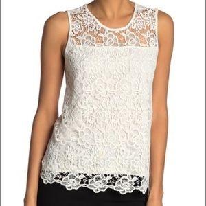 🆕NWT!Nanette Lepore lace tank white size M